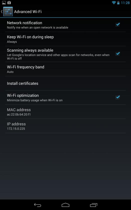 אנדרואיד 4.3 סריקת WIFI
